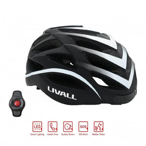 LIVALL BH62 Smart cycling helmet functions & Handlebar controls - Matte with black & white color