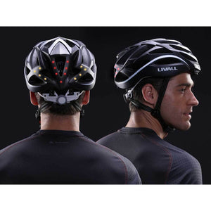 LED warning light and turn signal - LIVALL BH62 Smart cycling helmet - Matte with black & white color
