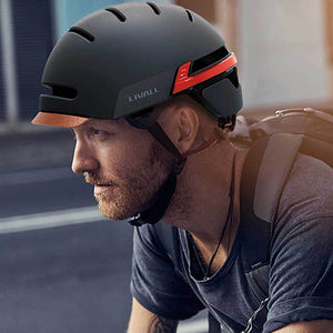 Wearing LIVALL BH51M Smart Urban Helmet Graphite Black
