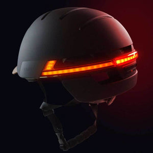 LED warning light and flashing - LIVALL BH51M Smart Urban Helmet Graphite Black
