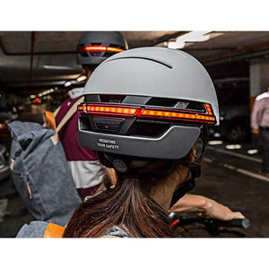 LED warning light and flashing - LIVALL BH51T Smart Urban Helmet Sandstone Grey