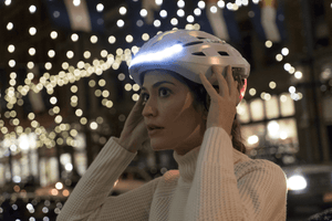 Front LED warning light - LUMOS Smart Cycling Helmet - White
