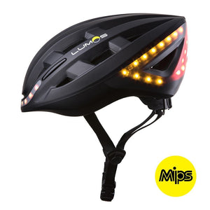 LUMOS Smart Cycling Helmet with MIPS side view - Black