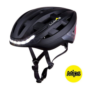 LUMOS Smart Cycling Helmet with MIPS lateral view - Black