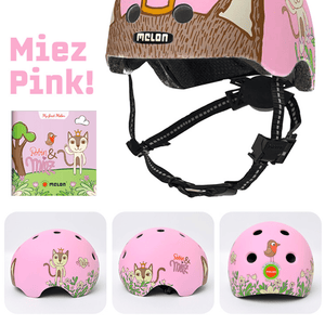 Toddler Story Helmet & Book Miez Pink - MELON Urban Active Helmet