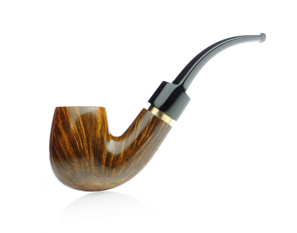 Getz Pipes - Smooth Bent Billiard with Brass