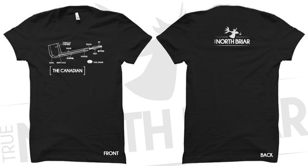 "True North Briar - ""The Canadian"" T-Shirt"