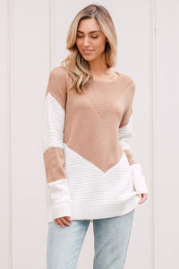 Coco & Mint Camel Knit