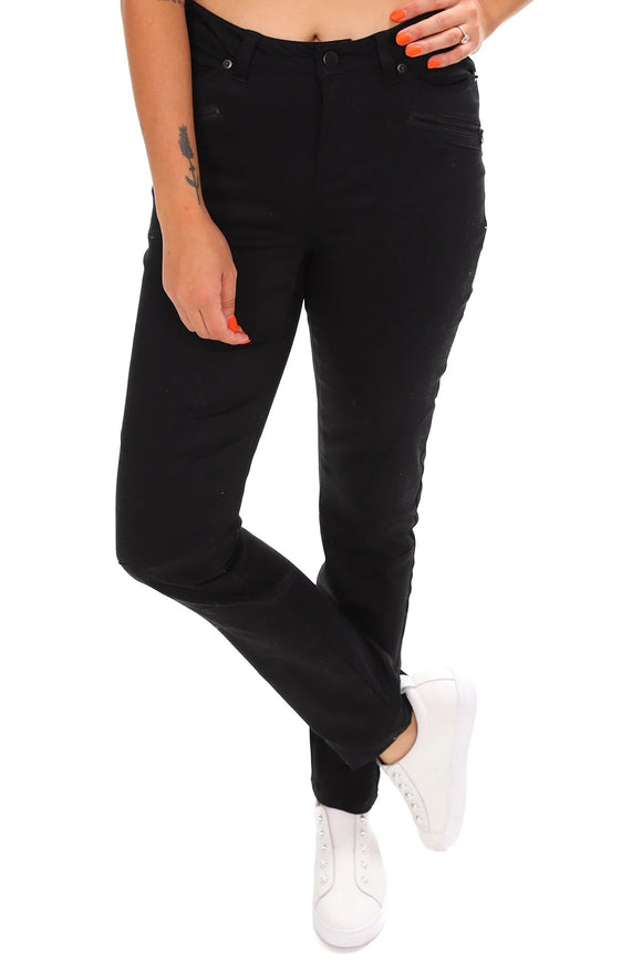 Foil Riverting Stuff Stretch Jeans - Black