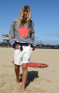 Hammill & Co Stripe Star Sweat