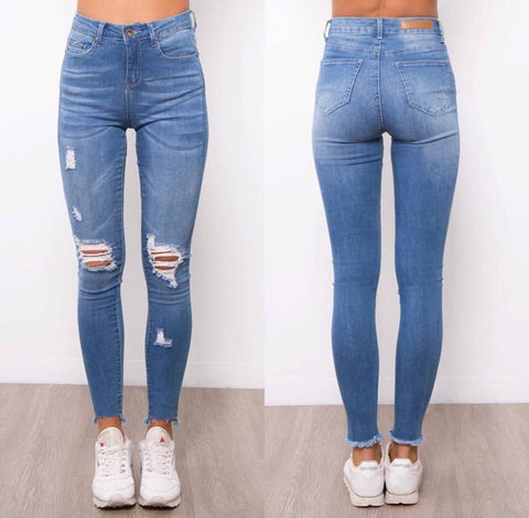 Kim distressed Denim Jeans