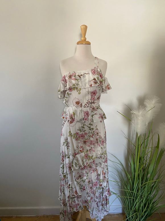 Sanctum Floral Ruffle Dress