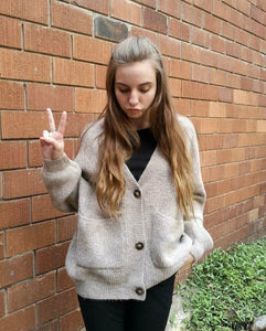 W Oversized Grannies Knit Cardi