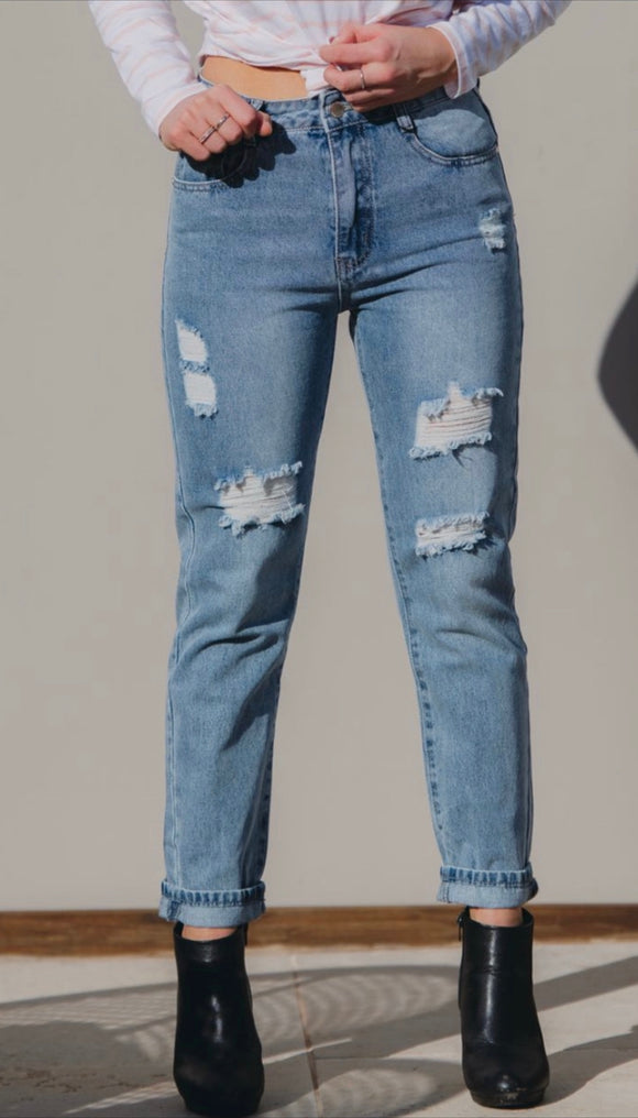 Country Denim distressed Rigid Denim Jeans