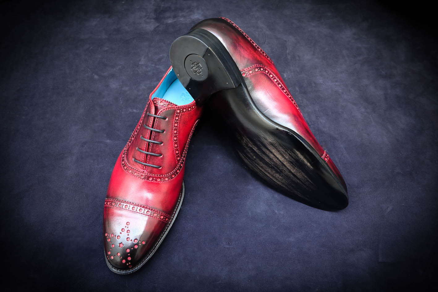 Hand painted patina unique shoes