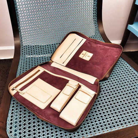 Bespoke leather attache case