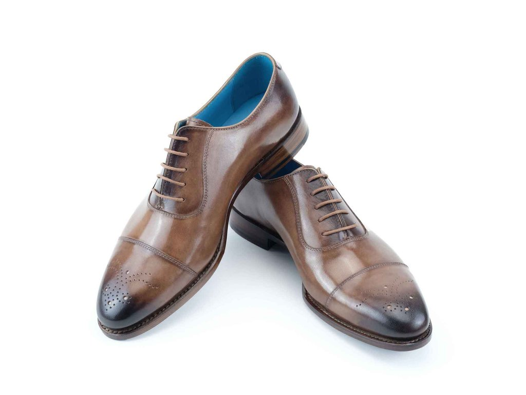 LAUBAT HAND COLOURED SHOES - LEGNO PATINA - MADE TO ORDER