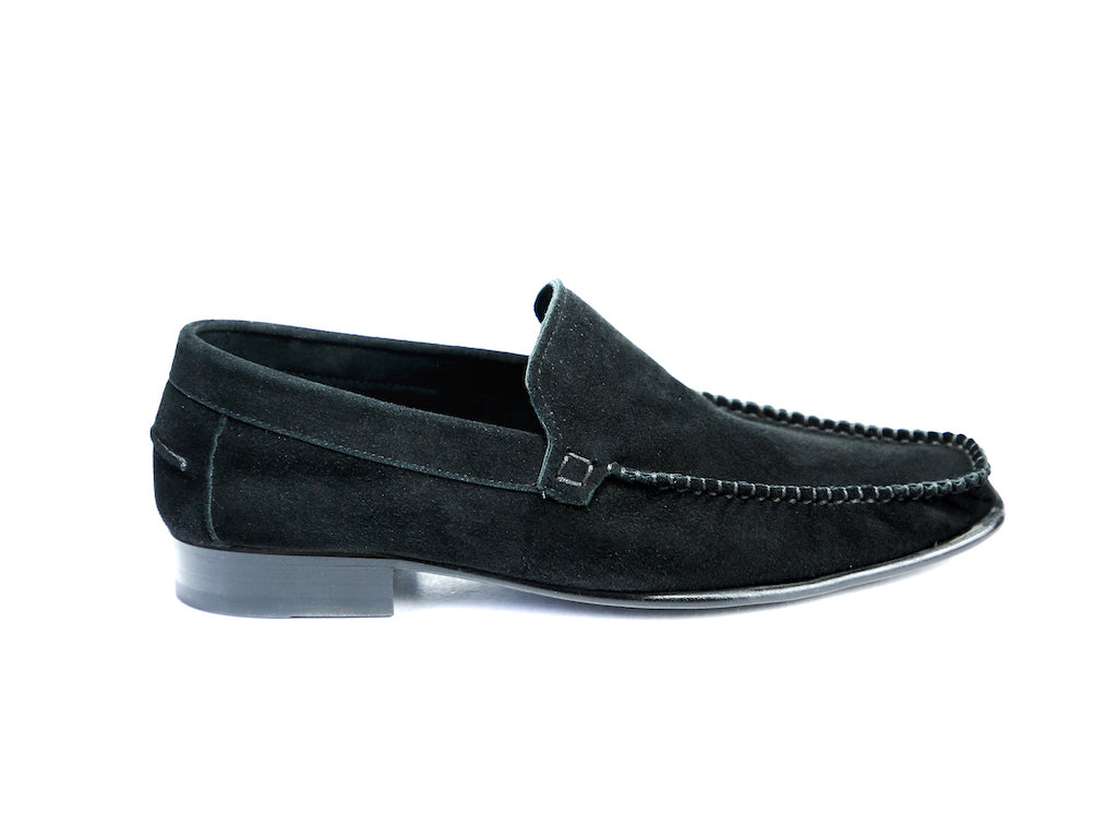 36 F BOXER LOAFERS, BLACK SUEDE - READY TO WEAR
