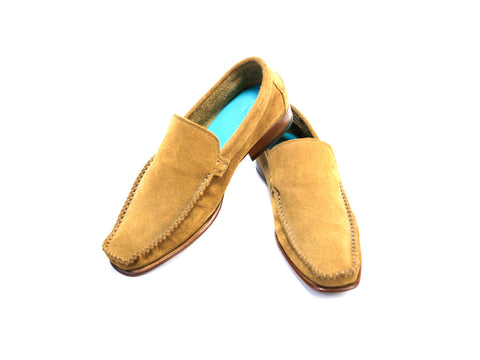 36 F BOXER LOAFERS, TOBACCO SUEDE - READY TO WEAR