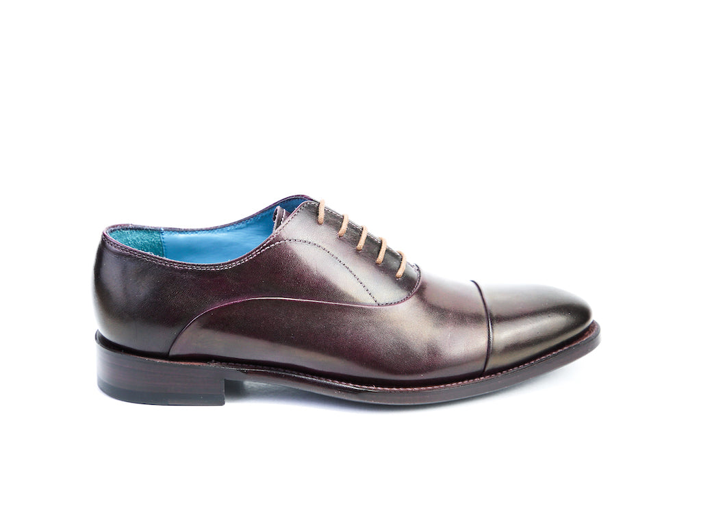 37 E CLASSIC SHOES, DARK PURPLE PATINA - READY TO WEAR