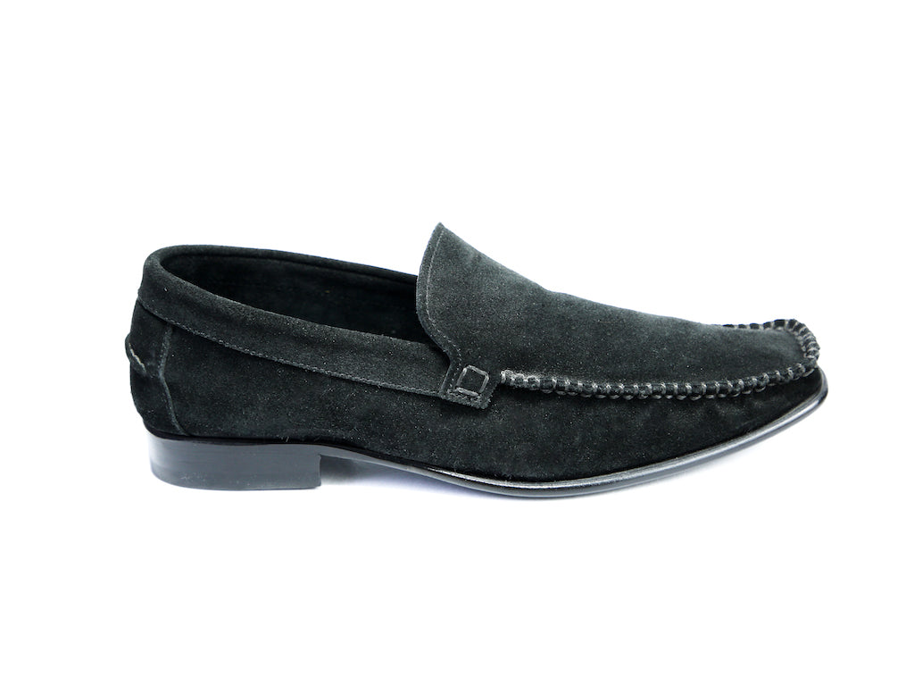 37 EE BOXER LOAFERS, BLACK SUEDE - READY TO WEAR