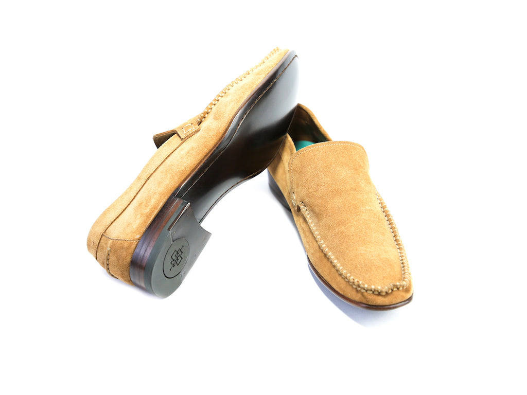 37 EE BOXER LOAFERS, TOBACCO SUEDE - READY TO WEAR