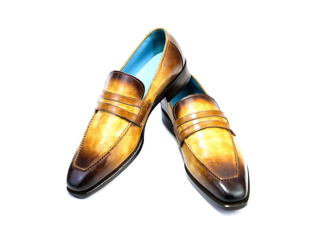 38 EE ALEX LOAFERS, WOOD PATINA - READY TO WEAR