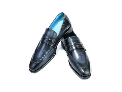 38 EE ALEX LOAFERS, GRAPHITE PATINA - READY TO WEAR