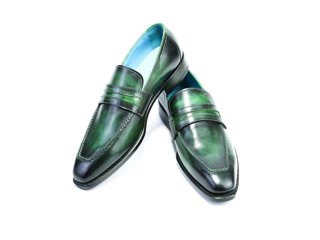 38 EE ALEX LOAFERS, GREEN PATINA - READY TO WEAR