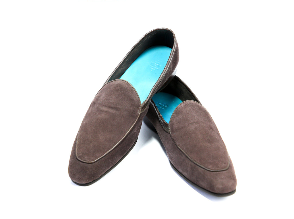 38 EE BERTRAND LOAFERS, CHOCOLATE SUEDE - READY TO WEAR