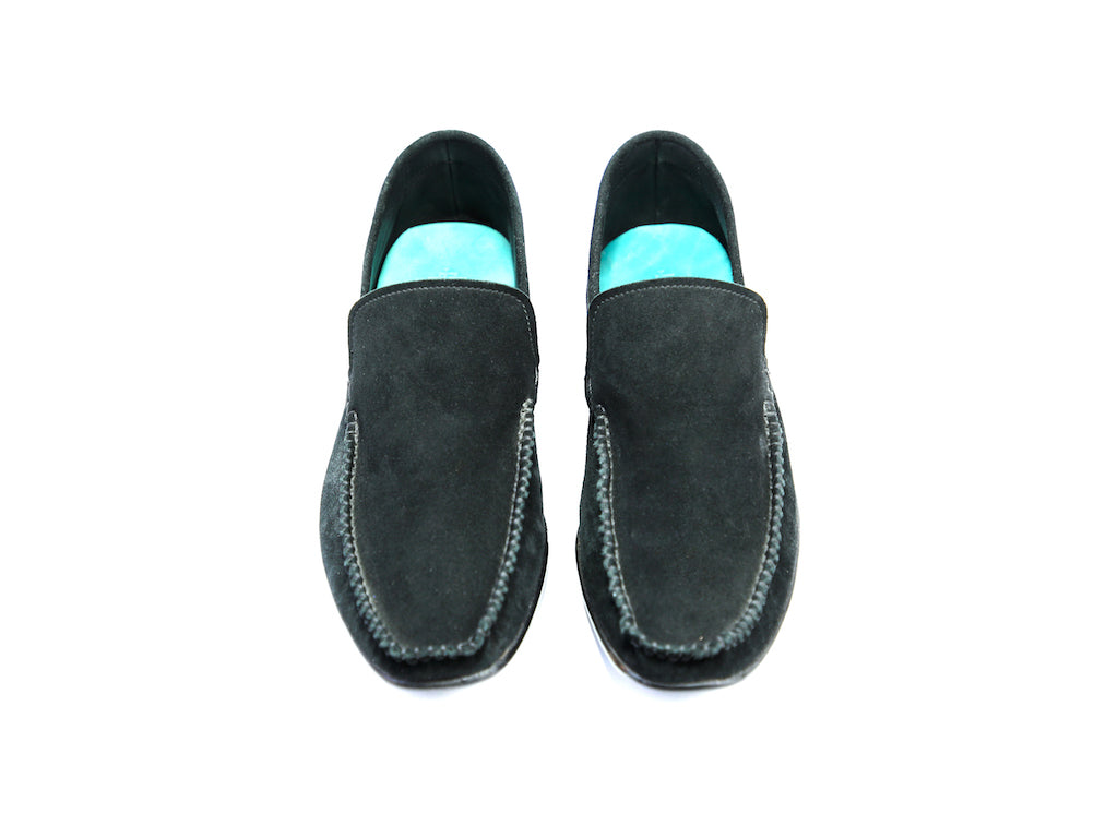38 EE BOXER LOAFERS, BLACK SUEDE - READY TO WEAR