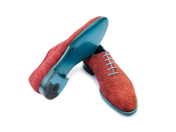 38 EE COUNTRYMAN SHOES, RED SUEDE - READY TO WEAR