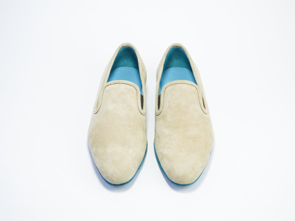 38 EE MARTIAL SLIPPER LOAFERS, CAMELLO SUEDE - READY TO WEAR