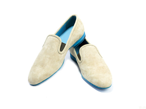 43 EE MARTIAL SLIPPER LOAFERS, CAMELLO SUEDE - READY TO WEAR