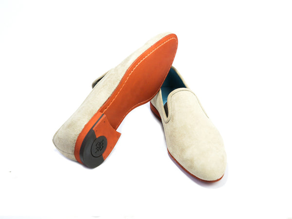 38 EE MARTIAL SLIPPER LOAFERS, SAND SUEDE - READY TO WEAR