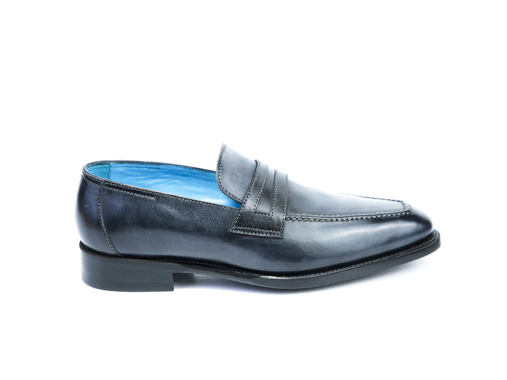38 F ALEX LOAFERS, BLACK PATINA - READY TO WEAR