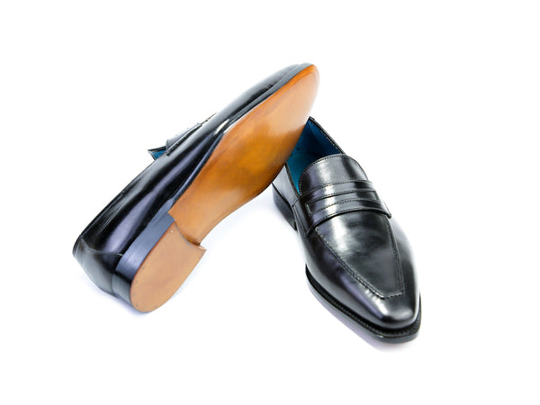 38 G ALEX LOAFERS, BLACK PATINA - READY TO WEAR