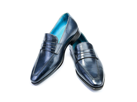 38 G ALEX LOAFERS, MIDNIGHT BLUE PATINA - READY TO WEAR