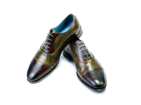 38 G CLASSIC SHOES, BROWN & GREEN PATINA - READY TO WEAR