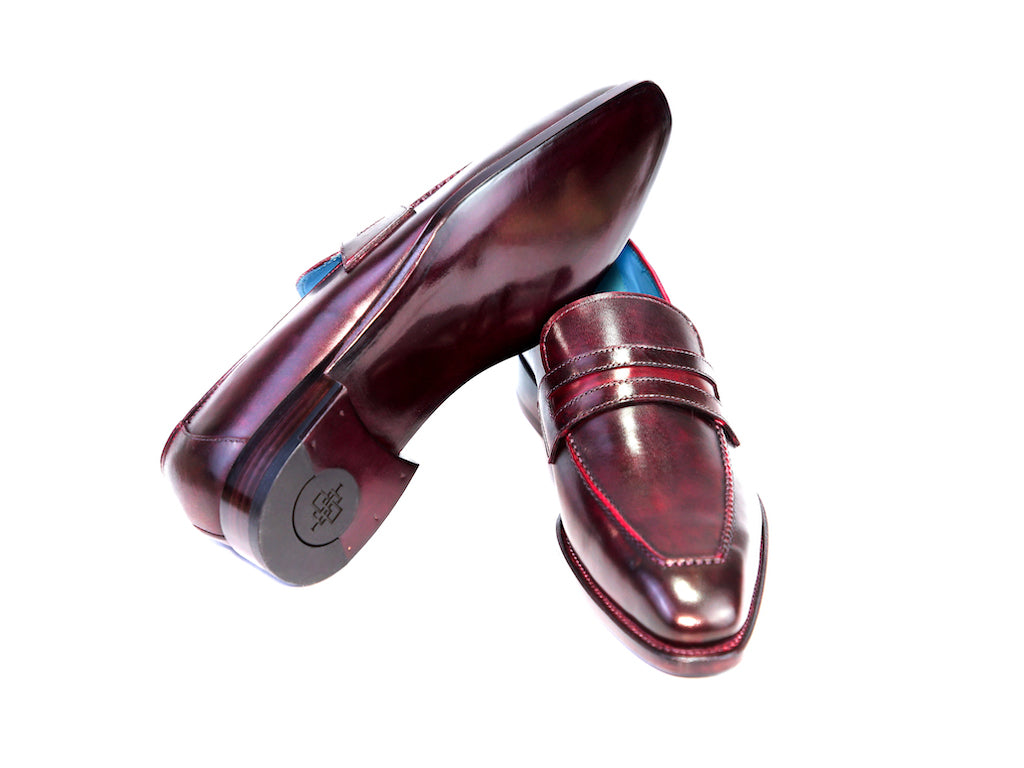 39 EE ALEX LOAFERS, CLARET PATINA - READY TO WEAR
