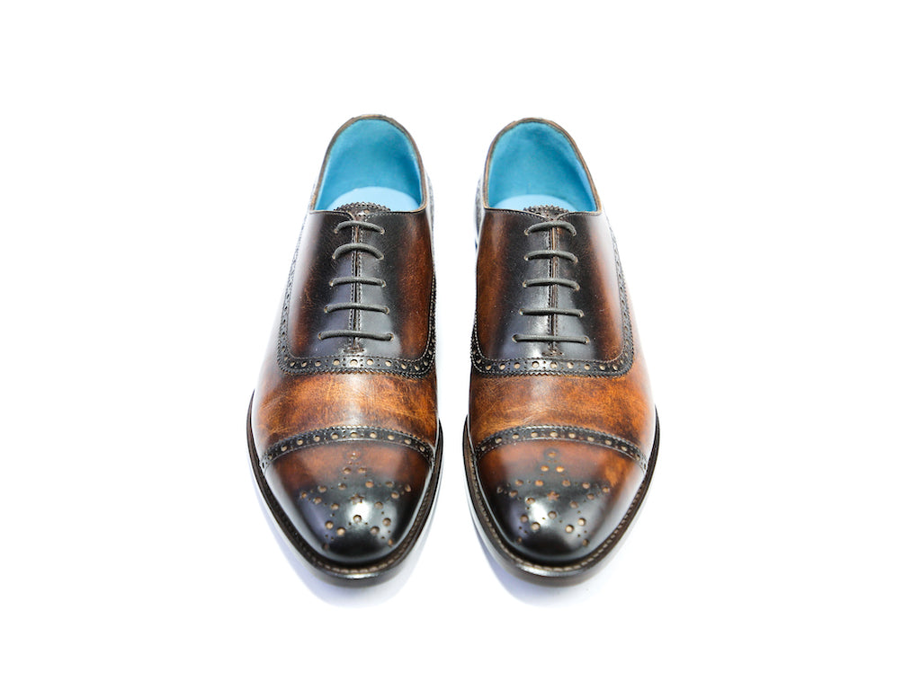 39 EE CITIZEN SHOES, DARK BROWN PATINA - READY TO WEAR