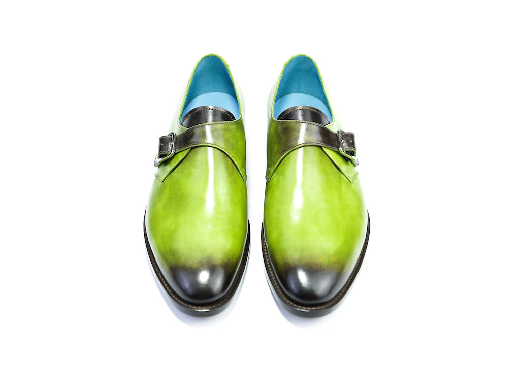 39 EE MINISTER MONK SHOES, HULK GREEN PATINA - READY TO WEAR