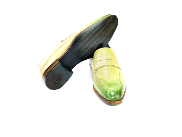 39 N ALEX LOAFERS, HAVANA & GREEN PATINA - READY TO WEAR