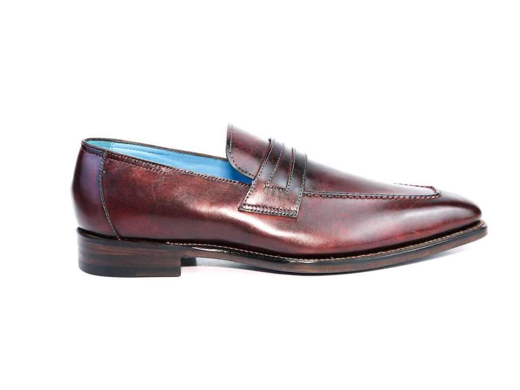 40 EE ALEX LOAFERS, BULGARO PATINA - READY TO WEAR