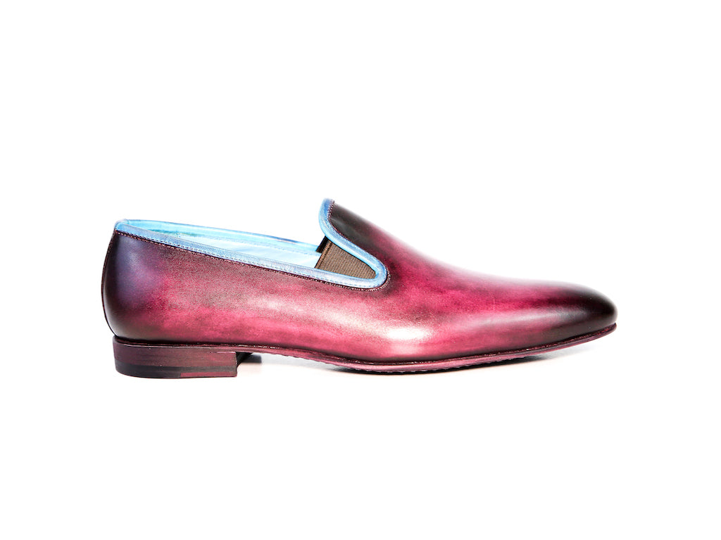 40 EE MARTIAL SLIPPER LOAFERS, PURPLE PATINA - READY TO WEAR