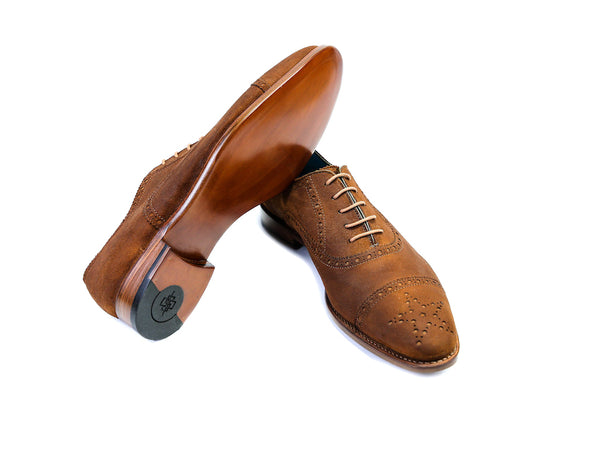 41 EE CITIZEN SHOES, TOBACCO SUEDE - READY TO WEAR