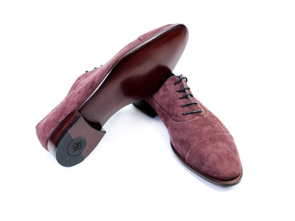 41 EE CLASSIC SHOES, BURGUNDY SUEDE - READY TO WEAR
