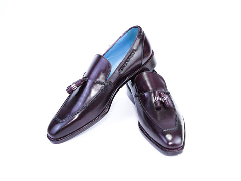 42 EEE SAIGON TASSEL LOAFERS, PURPLE PATINA - READY TO WEAR