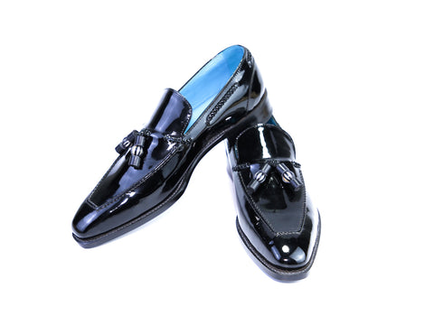 42 EE SAIGON TASSEL LOAFERS, BLACK PATENT - READY TO WEAR