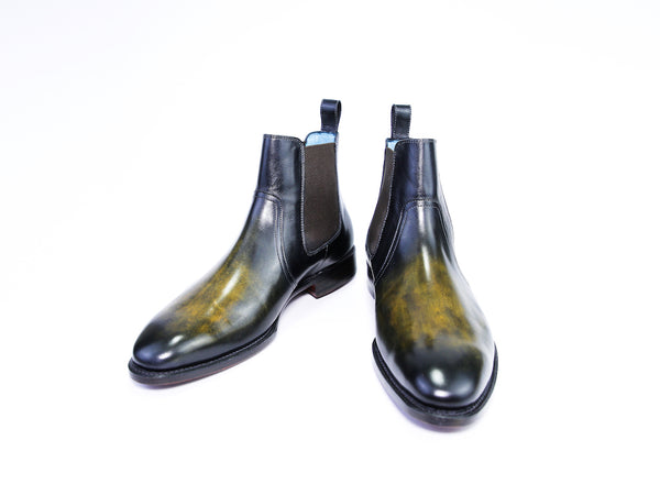 42 EEE GAUCHO BOOTS YELLOW & BLACK PATINA - READY TO WEAR